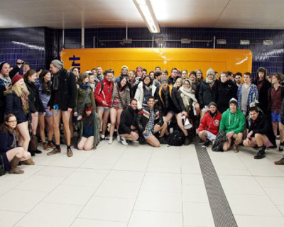 Lass dei Lederhos` dahoam, der No Pants Subway Ride 2014