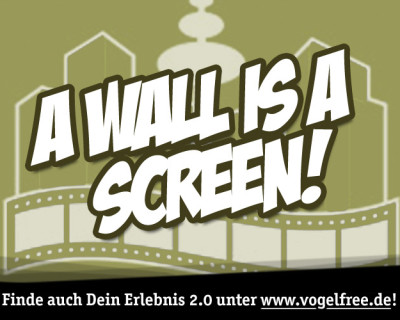 A wall is a screen!